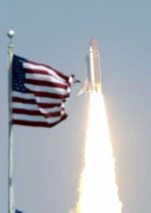 105 launch and US Flag